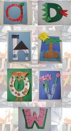 Los alumnos podrán desarrollar su creatividad decorando las letras y a su vez aprenderse el abecedario