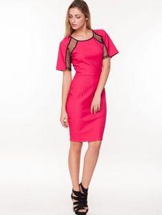44f12420bc KOOVS Mesh Insert Pencil Dress Party Dresses Online, Pencil Dress, Cold Shoulder  Dress,