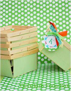 Berry Basket - Wooden Berry Basket - Green Wooden Berry Baskets Set of 6 - $12