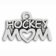 Pewter Hockey Mom Charm