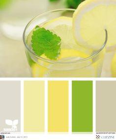 New kitchen colors schemes green design seeds ideas Design Seeds, Pantone Verde, Paleta Pantone, Kitchen Colour Schemes, Kitchen Colors, Kitchen Design, Colour Pallette, Color Combos, Yellow Color Schemes