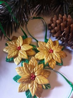Christmas ornaments. Set of 3. by PuppyLoveMiniature on Etsy