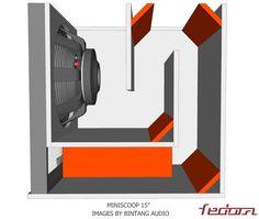 Miniscoop Speaker Plans 15 Inch - Full Bass 15 Inch Subwoofer Box, Subwoofer Box Design, Speaker Box Design, Audio Box, Car Audio, Diy Speakers, Built In Speakers, Sub Box Design, Turbine Engine