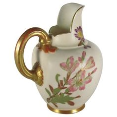 Check out this item at One Kings Lane! Royal Worcester Porcelain Pitcher, 1887