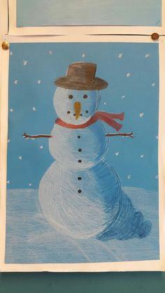 Sneeuwpop met schaduw