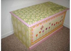 Hand painted chest by Carla Bank #handpaintedchest