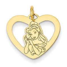 14K Yellow Gold Disney Beauty and the Beast Belle Heart Charm    Amazon Price: $190.95 $190.95 (as of March 15, 2017 9:27 pm - Details). Product prices and Read  more http://shopkids.ca/14k-yellow-gold-disney-beauty-and-the-beast-belle-heart-charm/