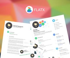 FlatX Resume => More at designresources.io