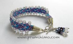 Kumihimo bracelet made using the square disk