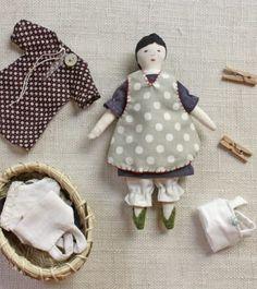 tiny rag doll sewing pattern