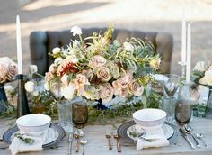 Santa Barbara wine country wedding florals in vintage compote. Eventful Rentals, Danae Grace Events, Diana Marie Photography