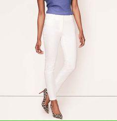 Floral Jacquard Skinny Ankle Pants in Julie Fit | Loft