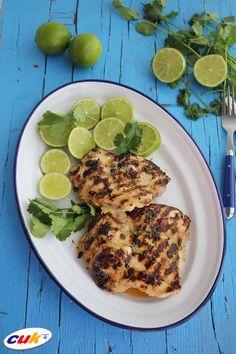 Receta de Pollo CUK a la parrilla con lima Lima, Chicken, Meat, Food, Chicken Recipes, Grilling, Lime, Eten, Meals