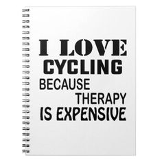 I Love Cycling Because Therapy Is Expensive Water Bottle Cycling
