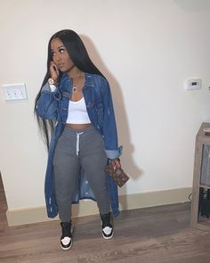 how to style outfits Cute Swag Outfits, Chill Outfits, Tomboy Outfits, Dope Outfits, Summer Outfits, Casual Outfits, Winter Swag Outfits, Black Girl Fashion, Look Fashion