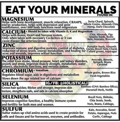 The best way to get the vital minerals you need is to eat them. And the BEST way to eat them is through food/diet. Nutrition Quotes, Fitness Nutrition, Health And Nutrition, Health And Wellness, Health Tips, Holistic Nutrition, Natural Health Remedies, Food Facts, Alternative Health
