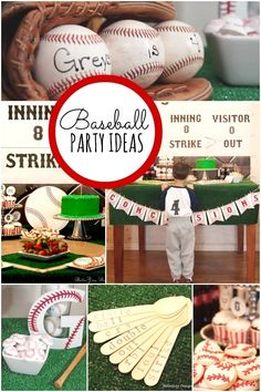 Boy's Baseball Birthday Party Ideas