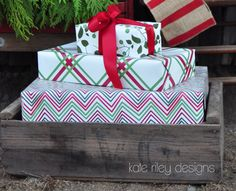Beautiful colors & patterns! Love this new holiday line. (Wish I hadn't already bought new wrapping paper.) Gift wrap & fabric by kateriley on Spoonflower