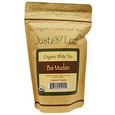 Just a Leaf Organic Tea Organic White Tea Bai Mudan Organic Loose Leaf Tea 2 oz * Click image for more details.-It is an affiliate link to Amazon.