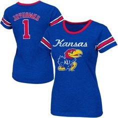 Kansas Jayhawks Ladies Galaxy II Slim Fit T-Shirt – Royal Blue