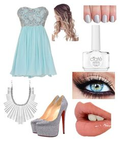 """8th Grade Formal 3"" by jennabreske ❤ liked on Polyvore featuring Christian Louboutin, Lucky Brand, Charlotte Tilbury and Ciaté"