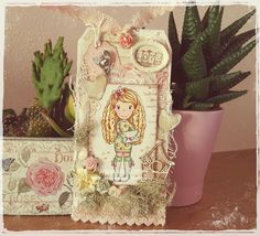 A lovely shabby tag (The Paper Nest Dolls stamp)
