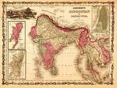 Images of British India: Map of Hindostan, or British India
