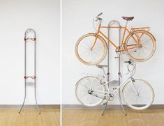 Michelangelo Two Bike Gravity Stand Saves Space, Requires No Drilling