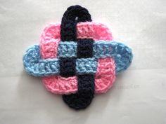 Metodo Punto Celta en Crochet con Cuadrado Granny - Patrones Crochet