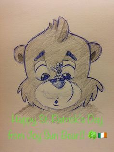 Wishing all our friends around the world who celebrate a wonderful St. Patrick's Day!! . #happystpatricksday #stpatricksday #irish #ireland #celebrate #drawing #sketch #cartoon #bear #leprechaun #fourleafclover #clover #luck #lucky #emeraldisle #celebrate #tradition #green #happy #goodluck #kids #children #holiday #fun #smile