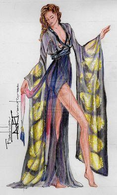 Kate Winslet's/ Rose's Kimono Titanic by FashionARTventures on deviantART