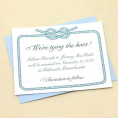Tying the Knot Save the Date - Sample by Concertina Press