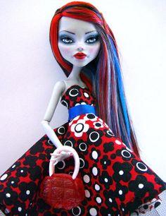 Audrey Blue - Ooak Ghoulia Monster High Repaint by Alison Borman,