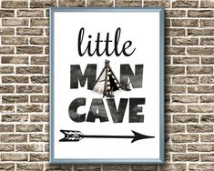 Little Man Cave Print Baby Boy Nursery Print Little Man Baby Prints, Nursery Prints, Boy Room, Kids Room, Man Cave Signs, Nursery Decor Boy, Room Doors, Door Signs, Baby Boy Nurseries