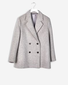 The double breasted peacoat is a tailored essential that will always keep you in style. Ours comes in a luxe wool mix with soft texture, with a subtle A-line shape. <br><br> • Wool mohair blend<br> • Subtle A-line shape <br> • Fully lined<br> <b