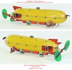 Old Antique Toys: The Zeppelin Toy Vintage Circus, Vintage Toys, German Toys, Airplane Toys, Corgi Toys, Pull Toy, Tin Toys, Retro Toys, Antique Toys