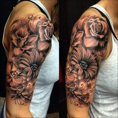 Flowers – tattoos for women meaningful Dope Tattoos, Girly Tattoos, Forarm Tattoos, Pretty Tattoos, Flower Tattoos, Body Art Tattoos, Tribal Tattoos, Shoulder Sleeve Tattoos, Quarter Sleeve Tattoos