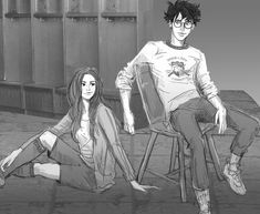 """Anything and everything about Harry James Potter and Ginevra (""""Ginny"""") Molly Weasley from JK Rowling's Harry Potter series. Harry Und Ginny, Harry Potter Ginny Weasley, Rowling Harry Potter, Draco And Hermione, Harry James Potter, Harry Potter Universal, Harry Potter World, Fanart Harry Potter, Harry Potter Thema"""