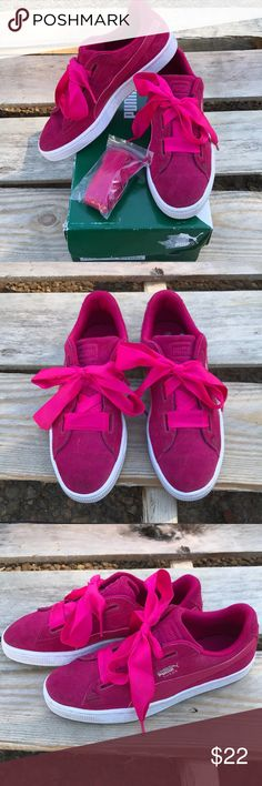 1d02411d685455 Puma Suede Heart SNK Jr. (5.5) Pink Suede Puma Used