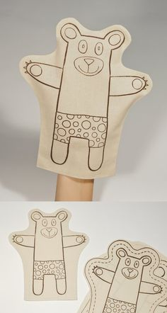 Let's make a Bear  Plush Soft Toy  Hand Puppet  DIY by pukaca