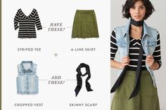 See our outfit formula that takes tried-and-true staples and injects a healthy dose of seasonal trends. Here are five ways to give your look a boost—instantly.