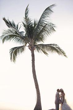 Under the palm trees -super cute for a beach wedding