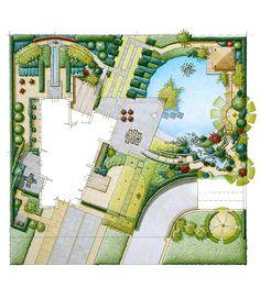 moderne tuin met vijver - Google zoeken