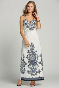 Maxi halter sun dress