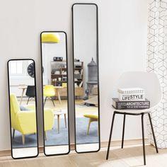3 miroirs en métal noir DEVON