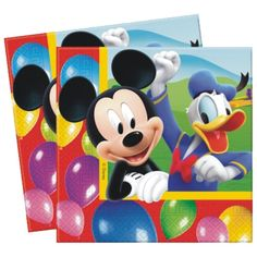 """20 Disney Mickey Mouse Clubhouse Balloons Birthday Party 6.5"""" Party Napkins #Party https://twitter.com/BandPUSA"""