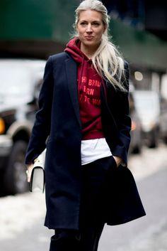 Street Style New York Fashion Week Fall 2017 | POPSUGAR Fashion Photo 200 - Sarah Harris wearing Vetements