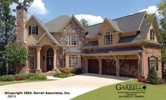 Laurel Haven House Plan | House Plans by Garrell Associates, Inc Like the stone and multi pitched roof