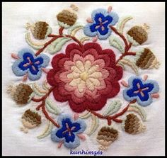 This Pin was discovered by Ors Chain Stitch Embroidery, Wool Embroidery, Learn Embroidery, Embroidery Stitches, Embroidery Patterns, Cross Stitch Patterns, Folklore, Stitch Head, Hungarian Embroidery