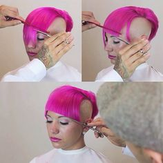 Cutting fringe on camera a year ago, you can watch the video on my YouTube channel #tbt #fringe #pinkhair #fernthebarber #paulmitchell #paulmitchelltheschool #pmts #pmtscostamesa #paulmitchellschools #hairnerd #hairbrained #behindthechair #graduation #shorthair #lines #haircut #haircutter #hairart #modernsalon #sassoon #scissorsalute #barbershopconnect #alwayslearning #practiceyourcraft #education #barber #fade #barberlife